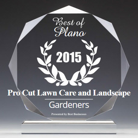 Pro Cut Lawn Care and Landscape Receives 2015 Best Businesses of Plano Award